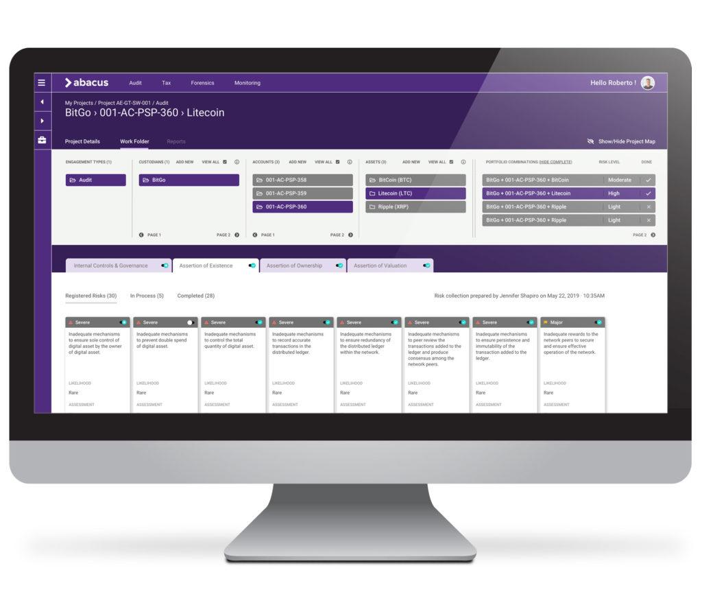 Abacus™ est la solution logicielle pour auditer les actifs numériques.