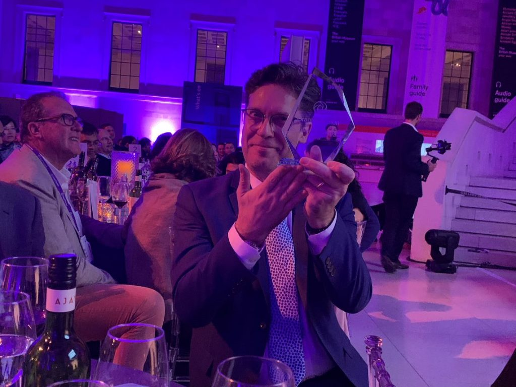 Michel Besner, Managing Director at Catallaxy received the Innovation Award at the Grant Thornton Experience Awards