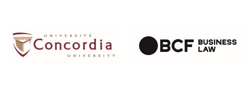 Concordia university and BCF Business law are the officials partners of Catallaxy - logo